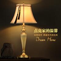 美式六面古铜台灯 卧室床头灯创意时尚欧式台灯 现代客厅调光灯具