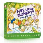 Five Little Monkeys Sitting in a Tree[Boardbook]五只小猴坐树上[卡板书]ISBN9780544083530