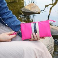女士尼龙手包牛津布防水小钱包休闲手拿手机包长款拉链布艺零钱包