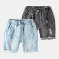 儿童牛仔短裤薄款宝宝五分裤夏装童装男童中裤子