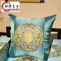 中式红木沙发抱枕靠垫床头靠枕办公室腰枕靠包含芯靠背古典中国风