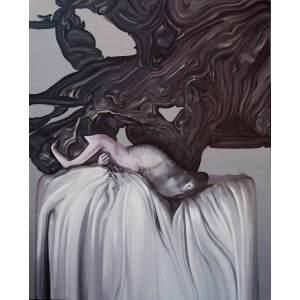 刘佳腾 当代青年油画家 《体态》之三布面油画 180x150cm