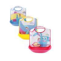 宝宝围兜饭兜防水辅食兜都免洗幼儿园小孩口水兜婴儿塑料便携软