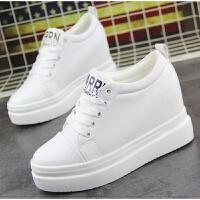 百搭女鞋小白鞋白色运动鞋女韩版厚底内增高10cm学生休闲鞋单鞋女
