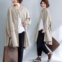 适合胖女人穿的风衣大码洋气宽松减龄中长款时髦外套春装新款
