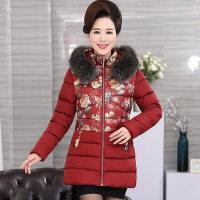 新年特惠妈妈冬装棉衣外套短款气质中老年人女装冬季加厚棉袄保暖洋气