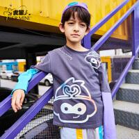 【2件3折:50.7元】小虎宝儿大圣国潮男童长袖T恤2021春装款中大童纯棉洋气