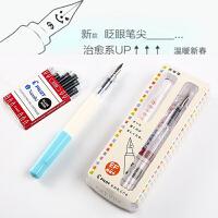 日本PILOT百乐笑脸钢笔 高中小学生用练字钢笔/书法钢笔*可爱