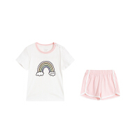 安踏童装 舒适宽松短袖运动短裤套装婴童套装A37923201