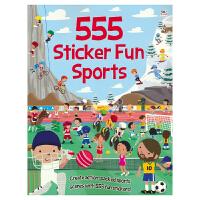555 Sticker Fun Sports 555张贴纸系列 有趣的运动 场景英语贴纸书 运动项目 儿童启蒙认知 英