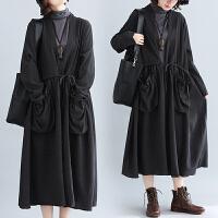 大码女装外套洋气减龄宽松文艺胖妹妹春装长袖中长款风衣新款