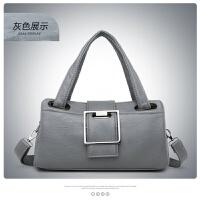 包包女新款软皮女包手提包韩版时尚枕头包大气女士单肩斜挎包