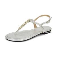 凉鞋女夏平跟2019夹趾波西米亚平底百搭罗马鞋海边度假沙滩