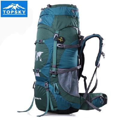 Topsky/远行客 男女户外旅游登山包旅行双肩背包防水野营徒步包70L优惠:满200减30,400减50,600减100