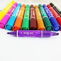 12色套装油性彩色记号笔马克笔双头笔 画画涂色幼儿美术绘画工具 12支套装
