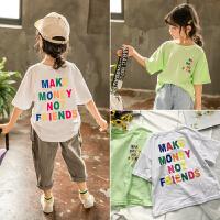 女童T恤夏装儿童休闲打底衫宝宝上衣