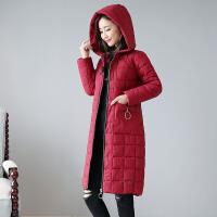 新年特惠棉衣中长款女士棉袄女装冬装新款冬季女中长款韩版2019新款羽女装棉袄加厚外套