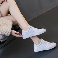 韩版百搭鞋子女2018新品板鞋冬季加绒棉鞋休闲运动平底小白鞋