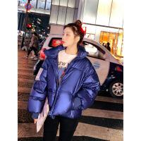 羽绒服2019冬装新款亮面服女短款小个子韩版宽松学生面包服外套潮