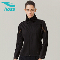hosa浩沙瑜伽运动健身服长袖瑜伽服女外套秋冬新款跑步服拉链透气