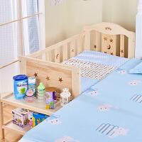 婴儿床实木无漆多功能新生儿摇篮摇床儿童拼接大床bb床宝宝床