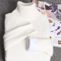秋冬高领加绒毛衣女中长款加厚保暖打底衫长袖修身显瘦套头针织衫打底衫女毛衣女