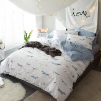 全棉四件套纯棉三件套单双人床被套床单床笠1.5/1.8m床上用品定制