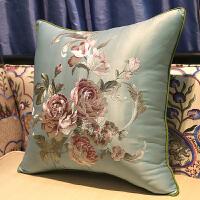新中式刺绣红木沙发抱枕靠垫大靠背床头靠包中国风靠枕含芯定制套 40x60cm (枕套+内心)