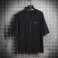男士短袖t恤潮流半截袖上衣服夏季2019新款男春装打底衫体恤 圆领DS344