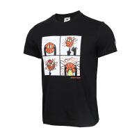 Adidas阿迪达斯 男装 运动休闲透气圆领舒适短袖T恤 DU6857