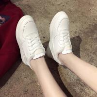 百搭小白鞋潮ulzzang加绒棉女鞋子保暖板鞋冬季原宿风韩版运动鞋 白色 KS210-2K