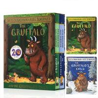 全店满300减100】英文原版 The Gruffalo bb & child BB 2册盒装纸板书 咕噜牛小妞妞系列