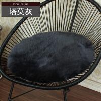圆形毛皮毛一体长毛款加厚坐垫圆椅垫茶餐椅学生坐垫冬季夏凉k