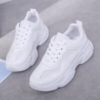 2019春季新款韩版网面透气运动休闲鞋女式低帮轻便耐磨学生小白鞋