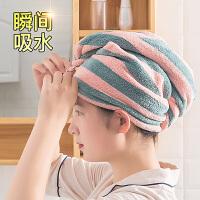 干发帽女强吸水速干抖音包头巾加厚可爱浴帽浴巾套装干发巾