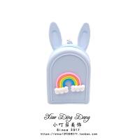 抖音小猪佩奇零钱包钥匙扣收纳硬币手拿包软胶兔耳儿童节钱包
