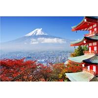 礼物1500唯美风景日本风光樱花富士山1000片木质拼图益智玩具