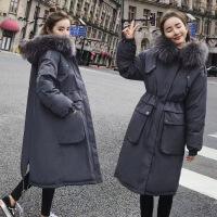 2019新款200斤冬季女中长款外套韩版大码棉衣加厚宽松派克服过膝棉袄