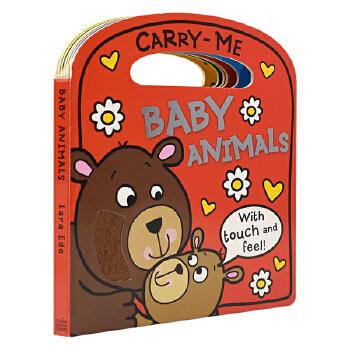 Carry-Me Baby Animals 动物宝宝 幼儿英语启蒙 触摸手提绘本 英文原版进口图书