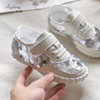 女童运动鞋夏季儿童透气网面老爹鞋中大童防滑鞋子