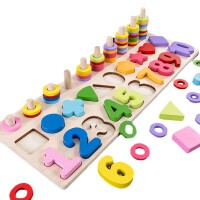 早教积木一岁到三岁适用 幼儿童玩具1-2周岁3认数字宝宝启蒙男女孩开发早教力拼装积木