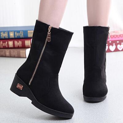 冬季布鞋女加绒加厚保暖女短靴雪地靴坡跟厚底女靴子   春节期间放假时间1.31号到2.11,放假期间暂停发货以及售后处理,正月初七恢复