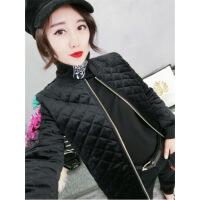 女2019新款冬季金丝绒亮片棉袄女短款韩版修身显瘦外套