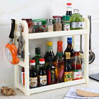 调味料收纳置物架塑料刀架调料调味品双层架子厨房用品用具小百货