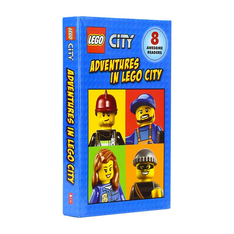 Adventures In Lego City Level 1 学乐出品 乐高城市英雄系列8册 分级读物 儿童故事绘本桥梁书漫画书 英文原版
