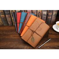 日韩创意笔记本定制 一叶知秋旅行日记本 活页复古树叶记事本子
