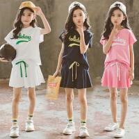 女童夏装运动套装裙子儿童夏季洋气时髦时尚潮衣两件套