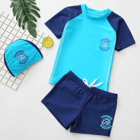 儿童泳衣男童分体防晒游泳衣婴幼儿宝宝泳裤装备