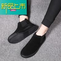 新品上市马丁靴男冬季加绒棉鞋高帮男鞋英伦靴雪地靴真皮短靴韩版潮
