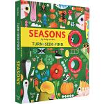 英文原版绘本 Seasons 纸板操作书 四季变化游戏书 幼儿科普认知启蒙 转轮设计